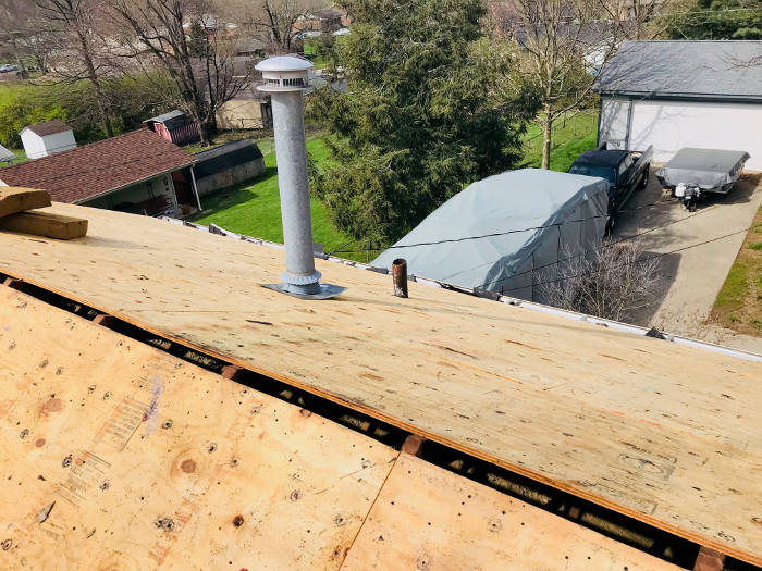 surface prepared for roof replacement 4-6