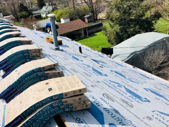 roof prepped for shingles 4-6
