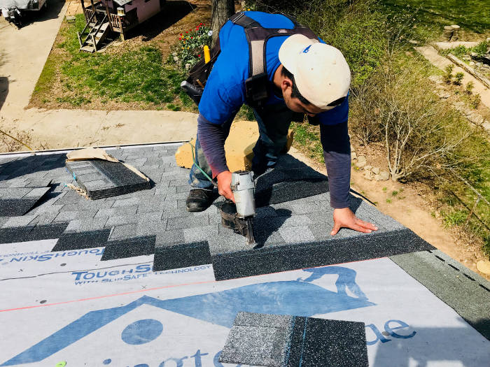 continuing with shingle installation 4-6