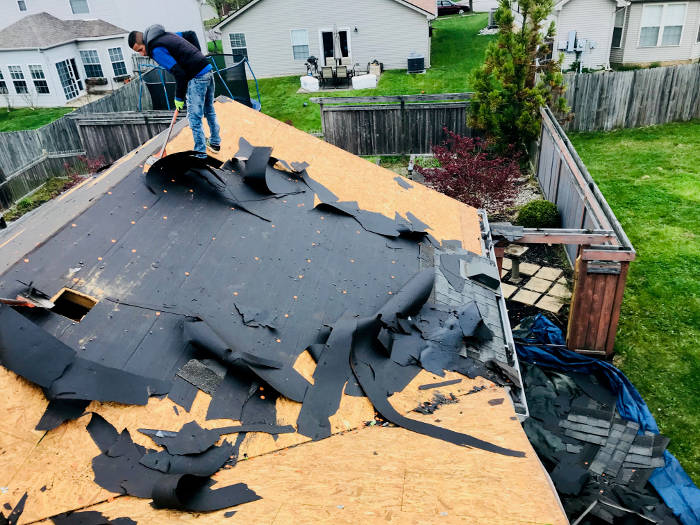 removing old roofing materials 4-19