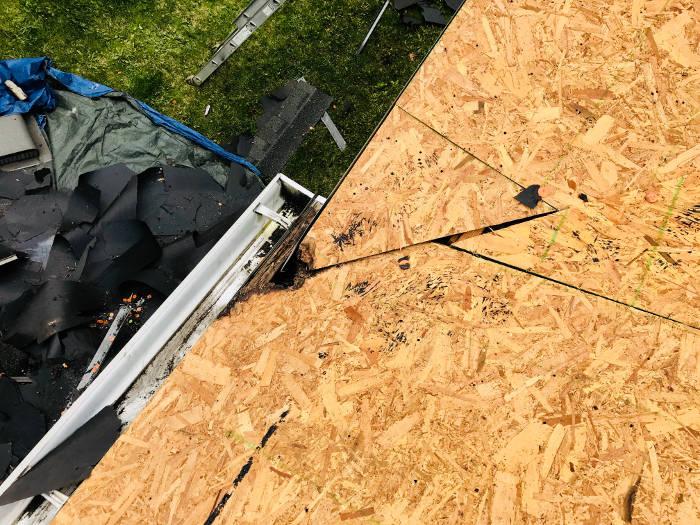 replaced damaged wood decking 4-19