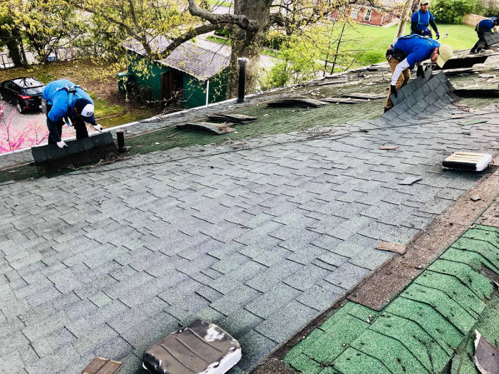 removing 1st layer of shingles 4-26