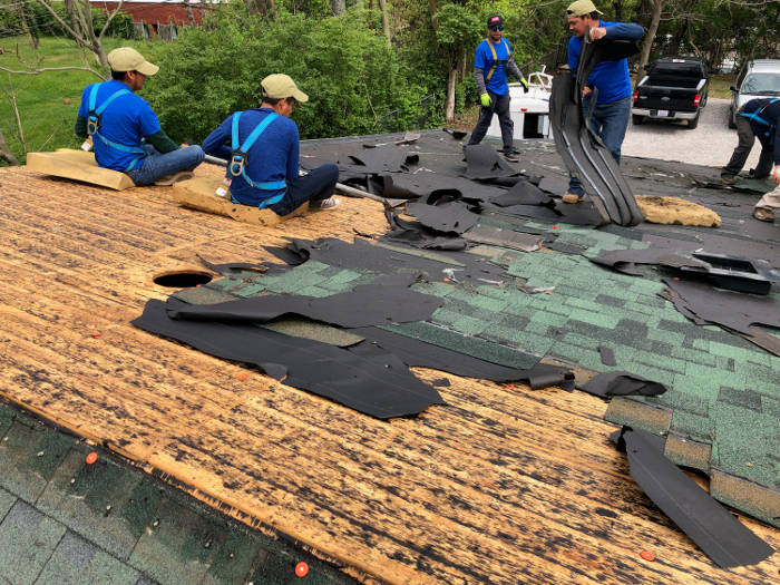 removing final layer of shingles 4-26