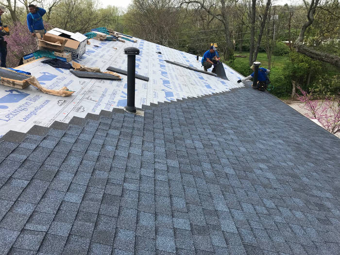 continuing our shingle installation 4-26