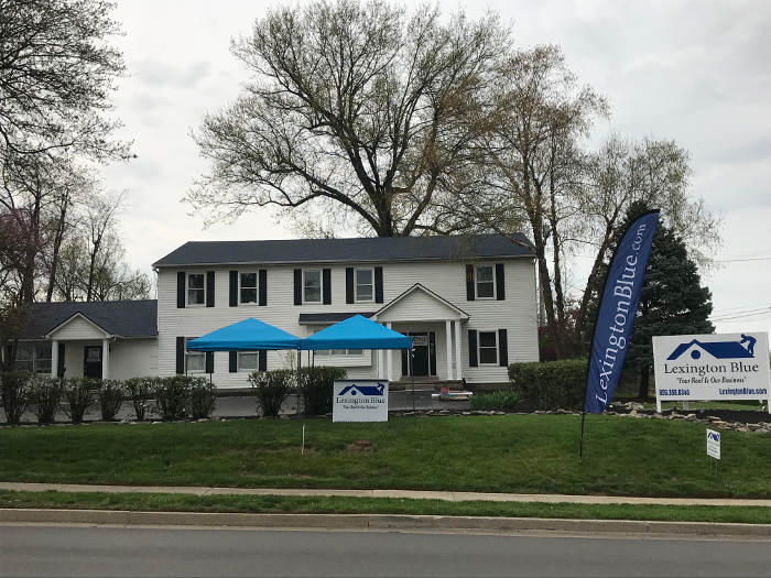 completed roofing project lexington blue office 4-26