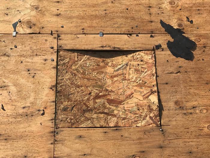 identified damaged wood decking 4-5