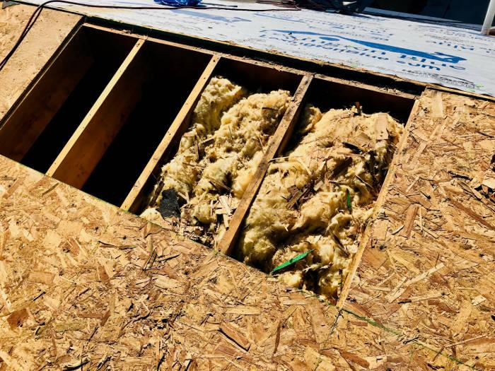 removed damaged wood decking 4-5